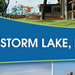Storm Lake United - Right Side Standing Retractible Tradeshow Banner